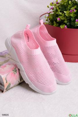 Розовые кроссовки без шнуровки