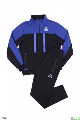 Спортивный костюм чёрно-синего цвета