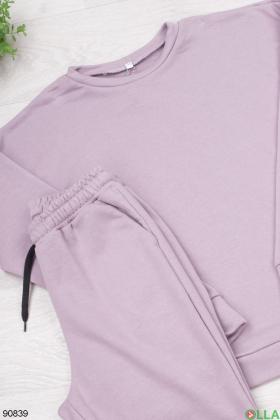 Женский лиловый спортивный костюм