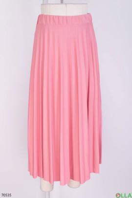 Женская розовая юбка на резинке