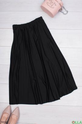 Женская черная юбка на резинке