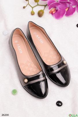 Балетки с черным носком