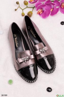Женские туфли с бантиком