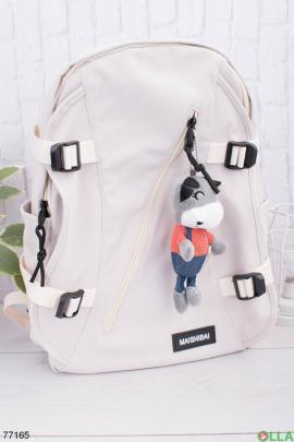 Женский бежевый рюкзак