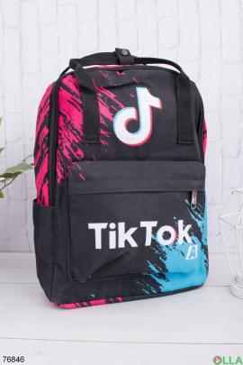 Женский разноцветный рюкзак с принтом