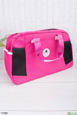 Женская розовая спортивная сумка