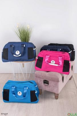 Женская темно-синяя спортивная сумка
