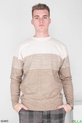 Мужской двухцветный свитер