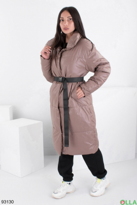 Женская зимняя коричневая куртка