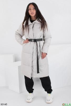 Женская зимняя светло-серая куртка