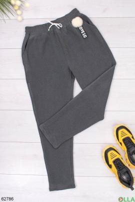 Женские трикотажные спортивные брюки на флисе