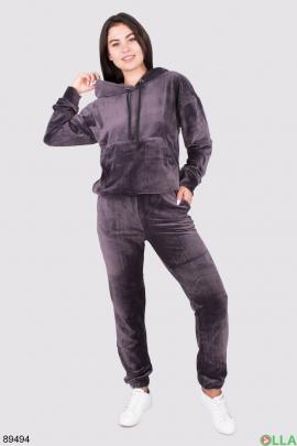 Женский спортивный велюровый костюм