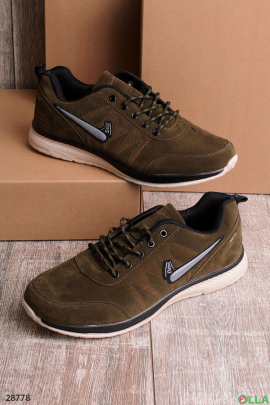 Мужские  кроссовки из экозамши