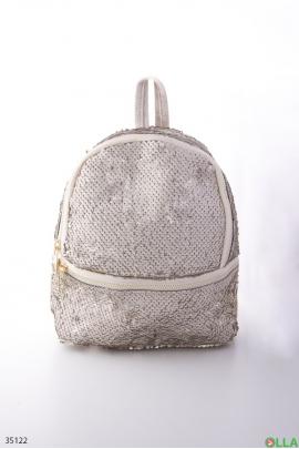 Рюкзак с декором из пайеток