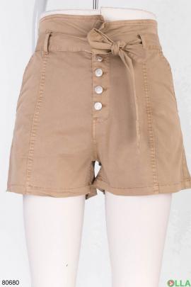 Женские бежевые шорты