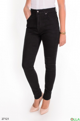 Женские джинсы-скинни черного цвета