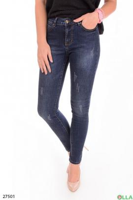 Женские джинсы с потёртостями