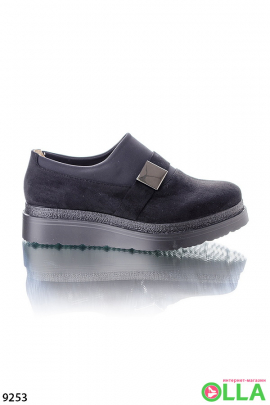 Замшевые туфли-криперы
