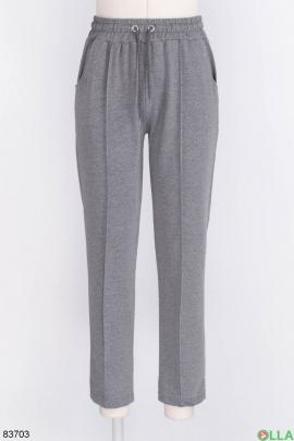 Женские темно-серые спортивные брюки