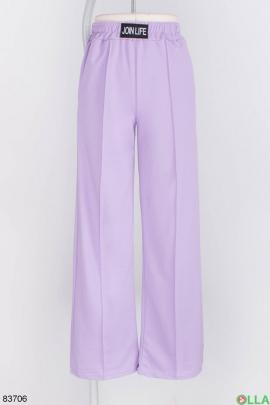 Женские лиловые спортивные брюки