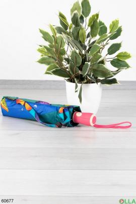 Женский зонт с цветами радуги