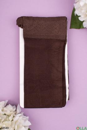Женские коричневые колготы 580 Den