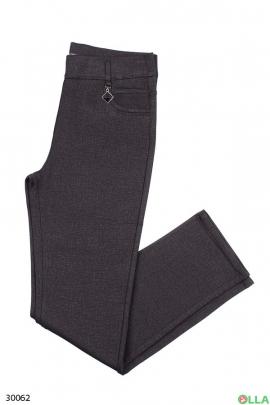 Женские брюки черного цвета