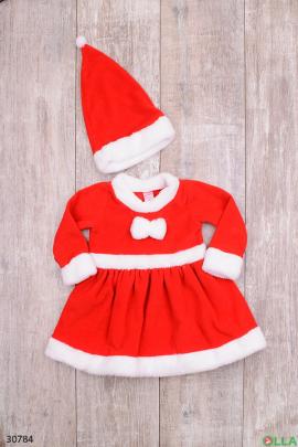 Новогоднее платье красного цвета