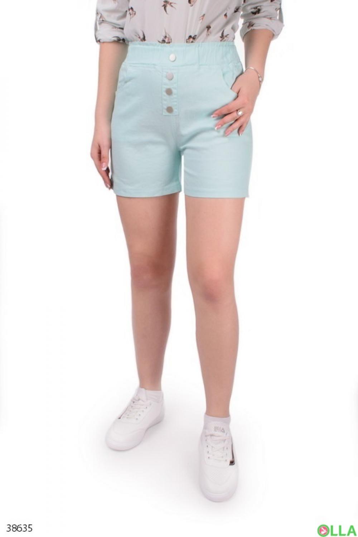 Женские бирюзовые шорты
