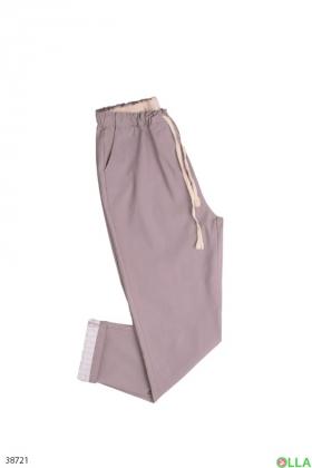 Женские серые  брюки