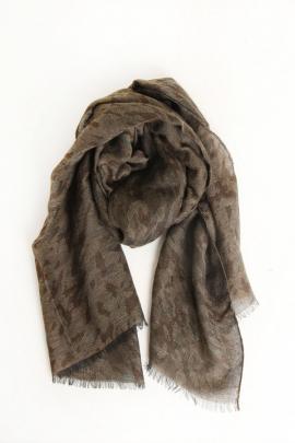 Легкий шарф цвета хаки