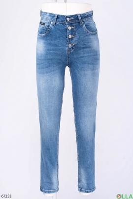 Женские повседневные синие джинсы