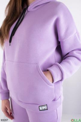Женский лиловый спортивный костюм на флисе