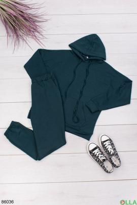 Женский темно-зеленый спортивный костюм