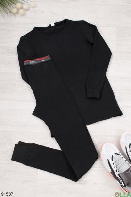 Мужской черный термокостюм