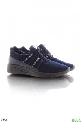 Кроссовки синего цвета