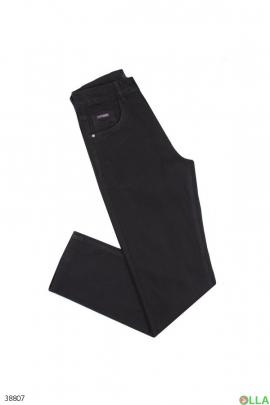 Мужские чёрные джинсы