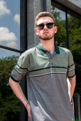 Мужская двухцветная футболка поло
