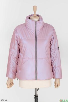 Женская фиолетовая куртка без капюшона