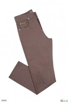Мужские  однотонные джинсы