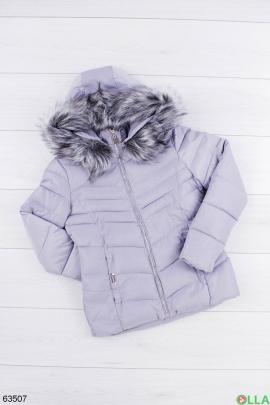 Женская зимняя серая куртка