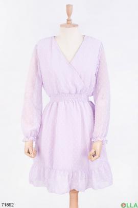 Женское лиловое платье