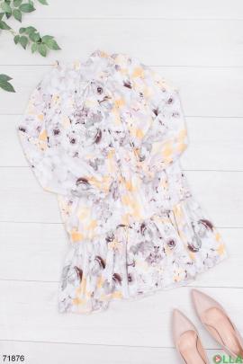 Женское разноцветное платье в принт