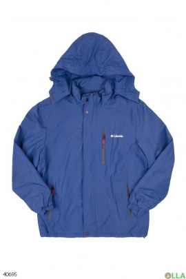 Мужская синяя куртка