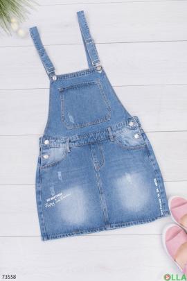 Женский джинсовый сарафан