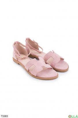 Женские розовые босоножки