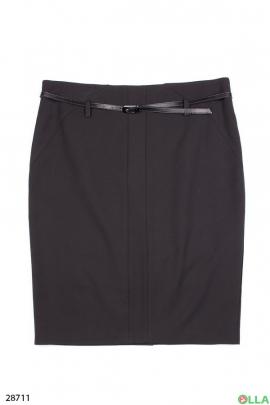 Классическая юбка с поясом