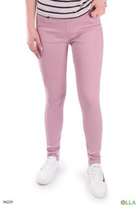 Женские розовые джегинсы