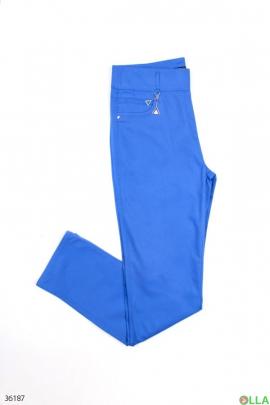 Женские синие джегинсы