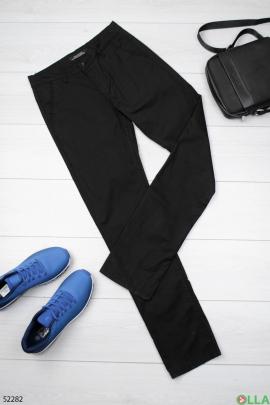 Мужские чёрные брюки